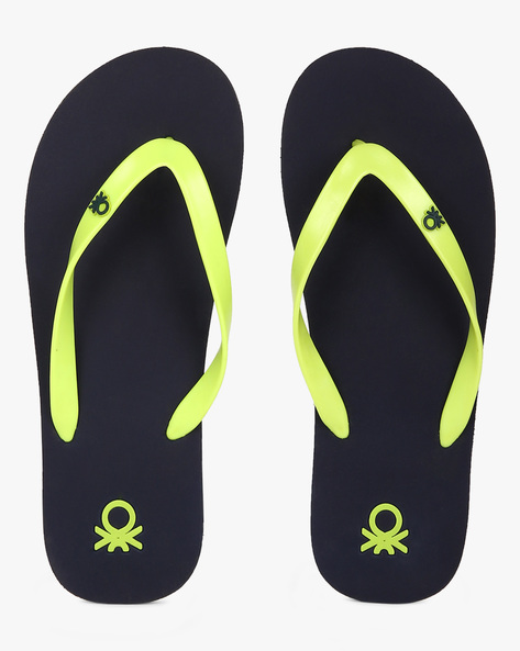 Thong-Style EVA Flip-Flops By UNITED COLORS OF BENETTON ( Navy )