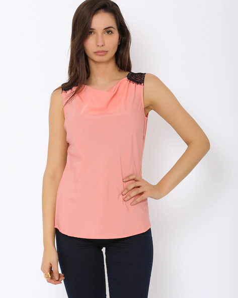 Cowl Neck Top By Annabelle By Pantaloons ( Pink )