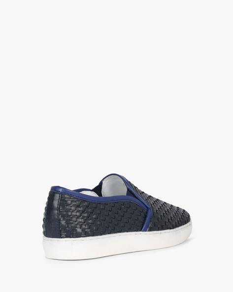 N9-Treated Textured Casual Slip-Ons By AJIO ( Navy )