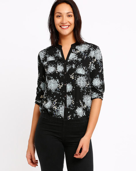 Printed Shirt With Open Collar By CHM ( Brtmulti )
