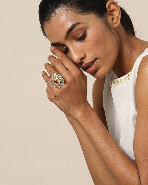 Matte Finish Brass Ring By Indie Picks ( Multi ) - 460161680001