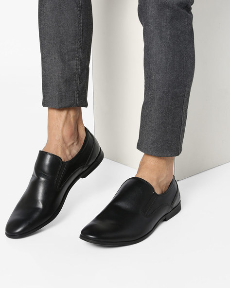 Textured Slip-On Shoes By Bond Street By Red Tape ( Black )