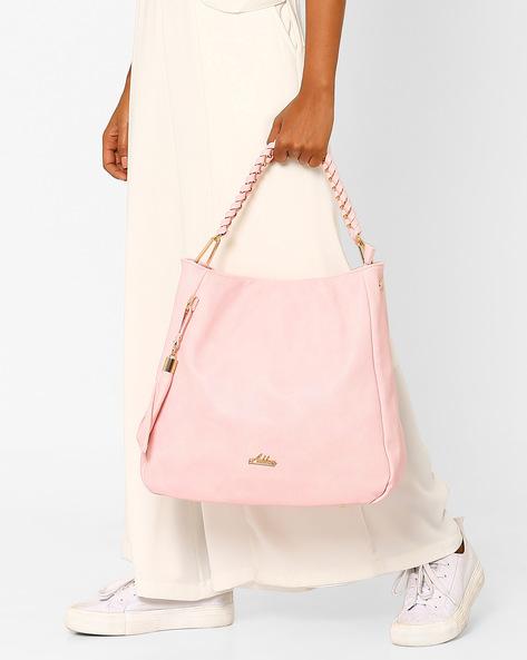 Oversized Handbag With Tassel By Addons ( Pink )