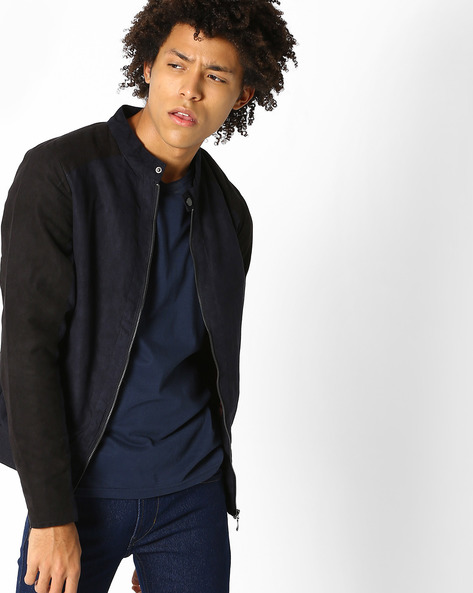 Slim Fit Jacket With Insert Pockets By FLYING MACHINE ( Navy )