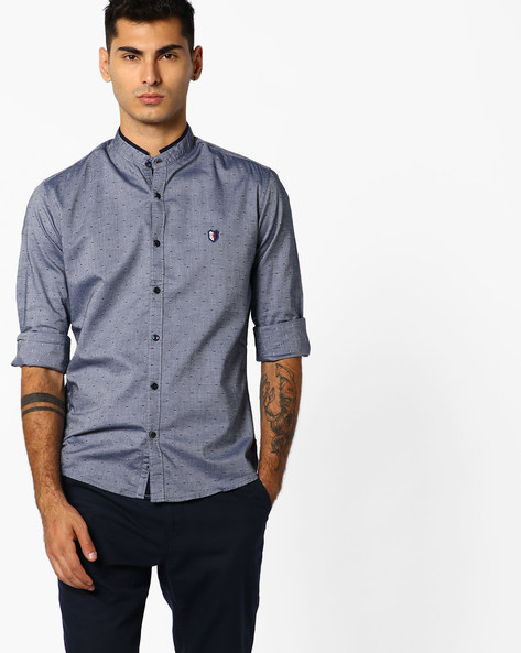 Printed Full Sleeves Shirt By Killer ( Navy )