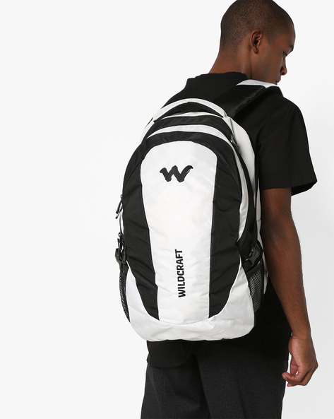 Colourblock Laptop Backpack By Wildcraft ( White )