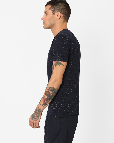 Slim Fit Cotton T-Shirt By Pepe Jeans ( Navy )