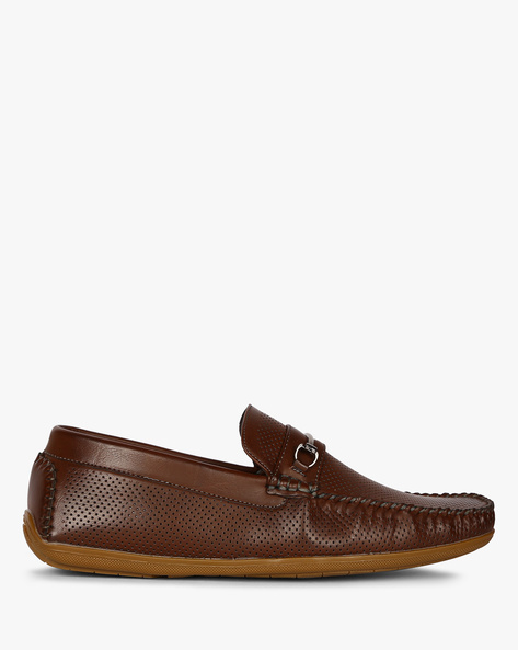 Edan Bit Loafers With Perforations By Spunk ( Brown )