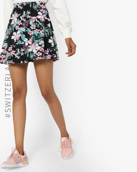 Floral Print Mini Skirt By TALLY WEiJL ( Multi )