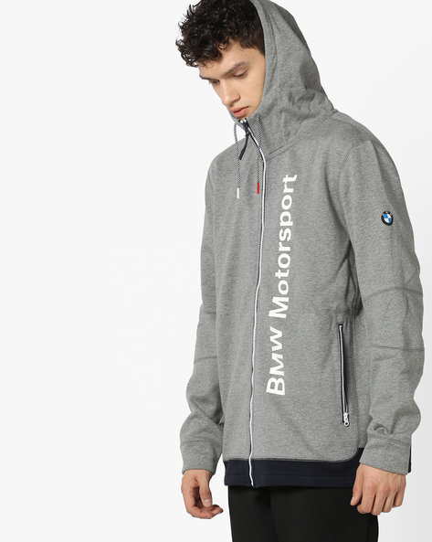 Front-Zip Hooded Jacket By Puma ( Grey ) - 460168490002