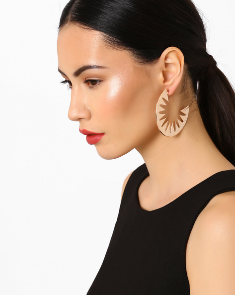 Piked Half-Circle Earrings By Pipa Bella ( Gold )