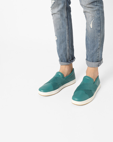 Slip-Ons With Elasticated Panels By UNITED COLORS OF BENETTON ( Teal )