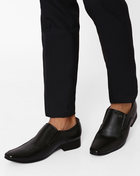 Formal Shoes With Textured Panel By ARROW ( Black )