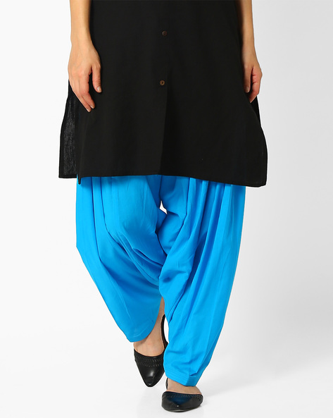 Pleated Patiala Pants By Stylenmart ( Turquoise )