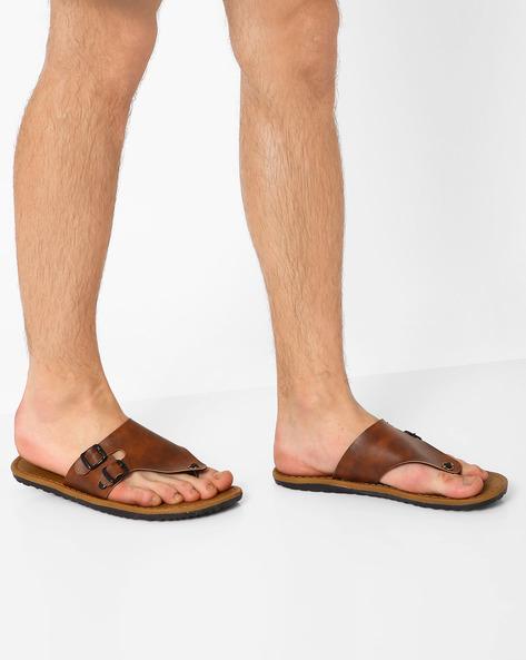 Flip-Flops With Buckle Detail By Funk ( Tan )