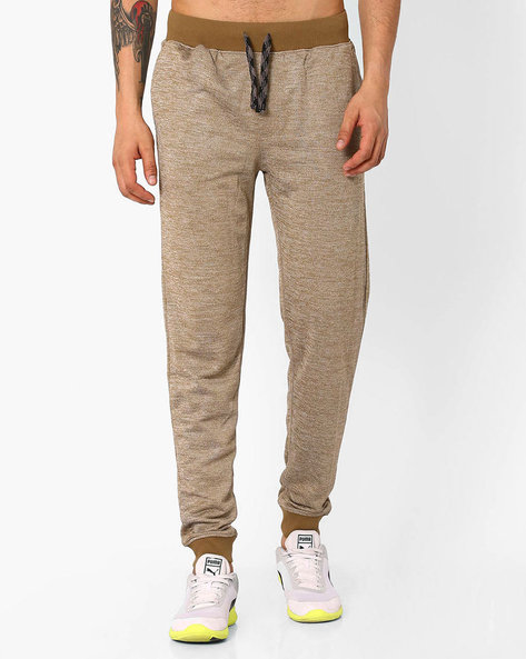 Cotton Slim Fit Jogger Pants By JOHN PLAYERS ( Olive )