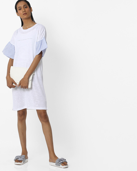 Tunic Top With Flared Sleeves By Teamspirit ( White )