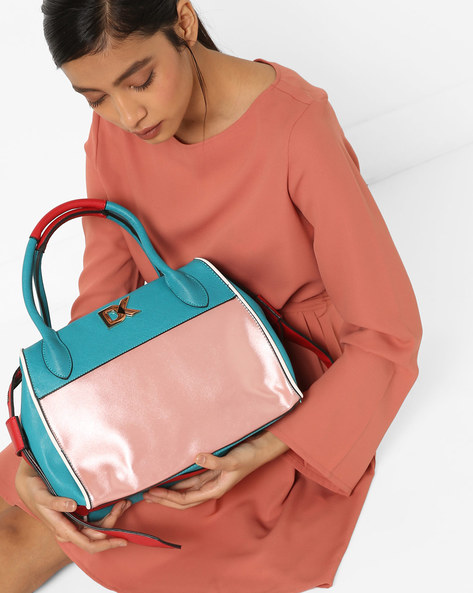 Colourblock Bowler Sling Bag By Diana Korr ( Pink )
