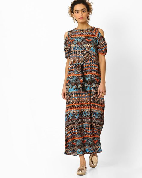 Aztec Print Maxi Dress By Juniper ( Multi )