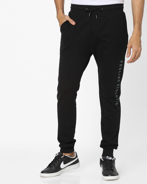 Joggers With Elasticated Waistband By PROLINE ( Black )