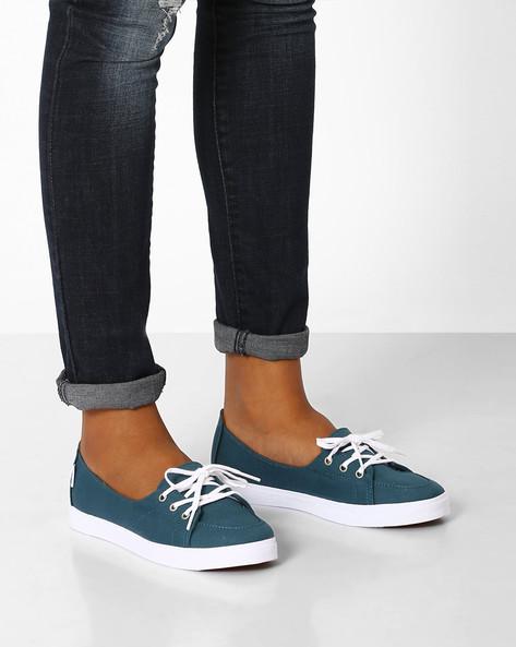 Palisades Low-Cut Slip-On Shoes By Vans ( Blue )
