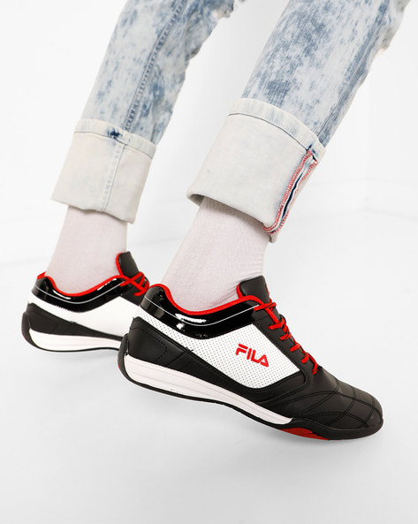Gael Panelled Lace-Up Shoes By FILA ( Black )