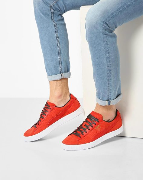 Clyde JCC Suede Sneakers By Puma ( Red )