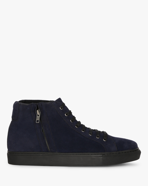 Mid-Top Sneakers With Zipper By Funk ( Navy )
