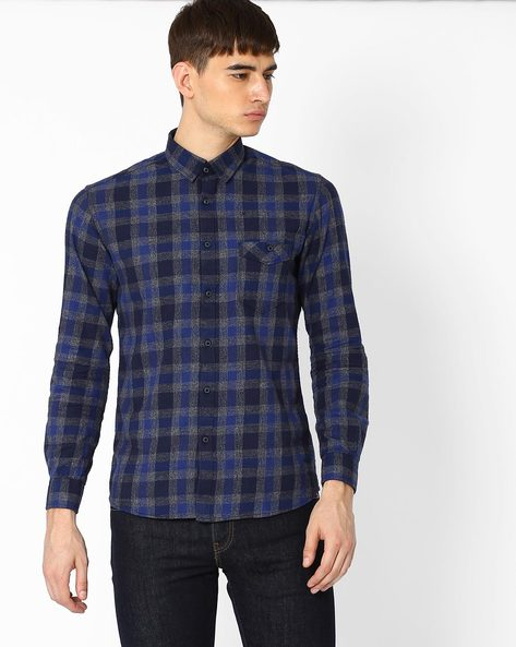 Checked Full Arm Shirt By Killer ( Assorted )