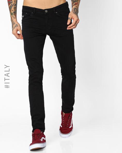 Slim Fit Stretch Jeans By ALCOTT ( Black )
