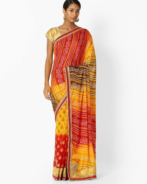 Designer Saree With Zari By Shonaya ( Mustard )