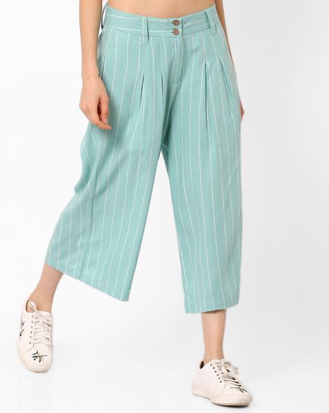 Striped Culottes with Pockets