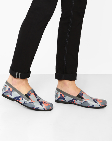 Camouflage Print Slip-On Shoes By Funk ( Grey )