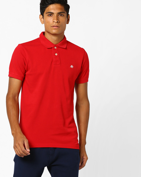 Polo T-shirt With Vented Hemline By Aeropostale ( Red )