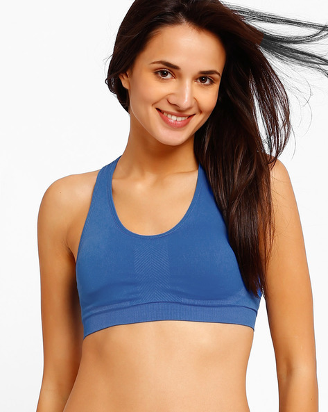 Racerback Sports Bra By PrettySecrets ( Blue )