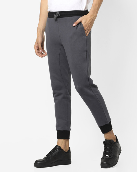 Track Pants With Contrast Elasticated Waist By UNITED COLORS OF BENETTON ( Grey )