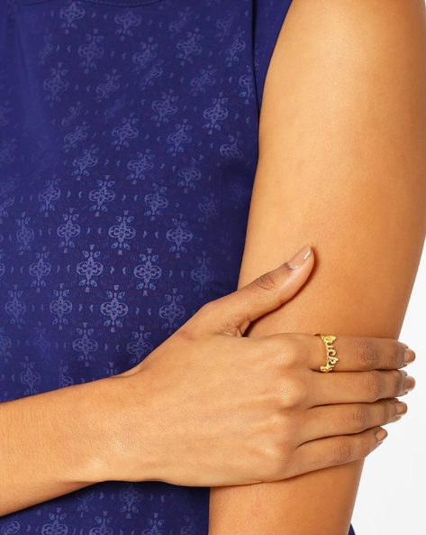 Matte Gold-Plated Ring By AJIO ( Gold ) - 460018343001