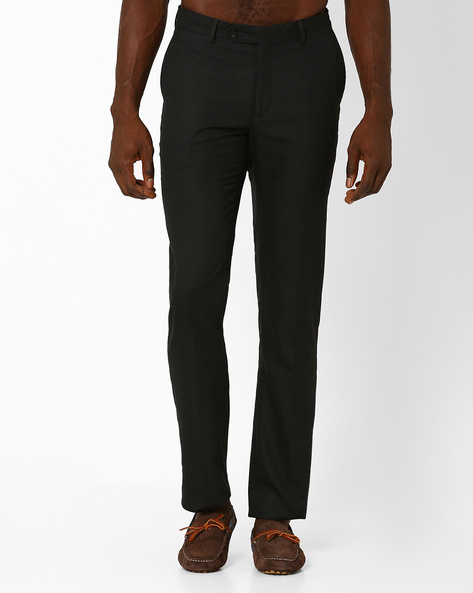 Jack Classic Slim Trousers By Wills Lifestyle ( Black )