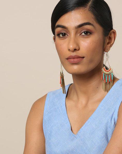 Beaded Dangler Earrings By Indie Picks ( Multicolour )