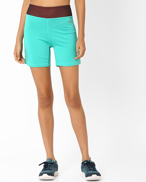 Shorts With Contrast Waistband By PrettySecrets ( Green )