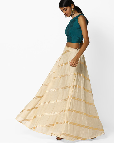 Semi-Stitched Lehenga Choli Set By Parmita ( Green )
