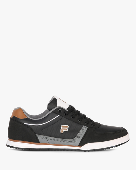 Panelled Sneakers With Perforations By FILA ( Black )