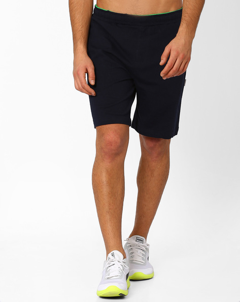 Sports Shorts With Elasticated Waistband By HANES ( Navy )