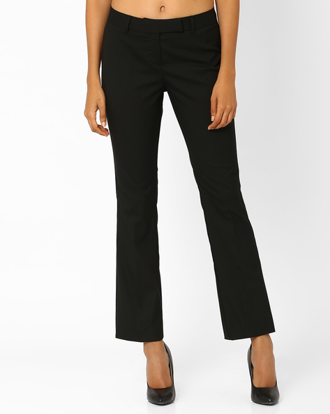 Ankle-Length Trousers By Annabelle By Pantaloons ( Black )