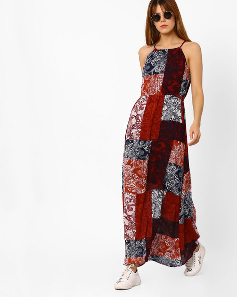 Floral Print Maxi Dress By Oxolloxo ( Multicolour )