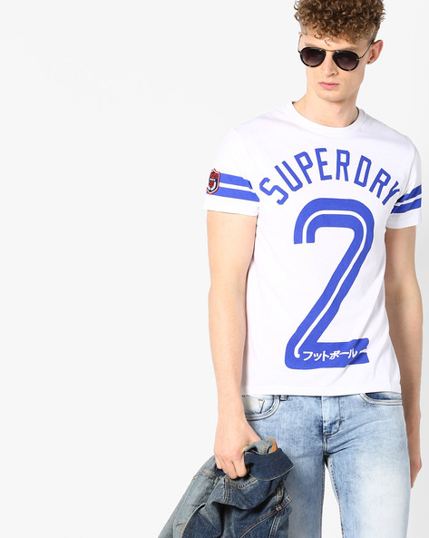 Soccer Print Crew-Neck T-shirt By SUPERDRY ( 01c )