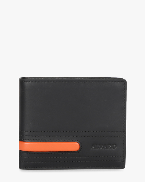 Genuine Leather Bi-Fold Wallet By ALVARO CASTAGNINO ( Black ) - 460135667001