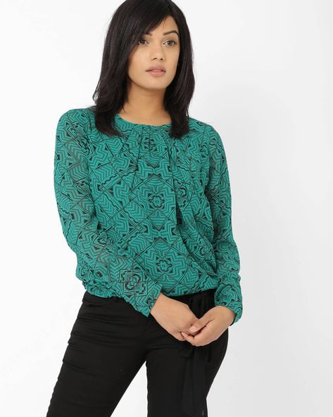 Printed Top By Oxolloxo ( Green )