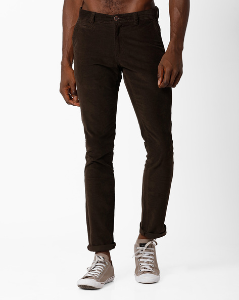 Mid-Rise Tapered Fit Chinos By NETPLAY ( Olive ) - 440690781071
