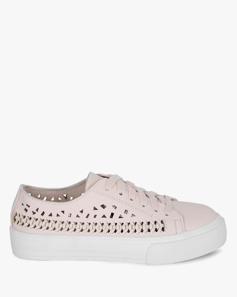 Lace-Up Shoes With Cut-Out Detail By BSH ( Blush )